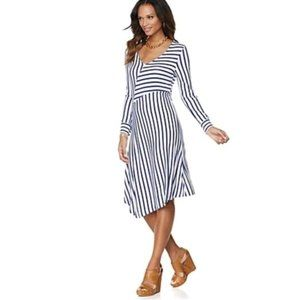 NWT Liz Lange Jersey Striped Dress
